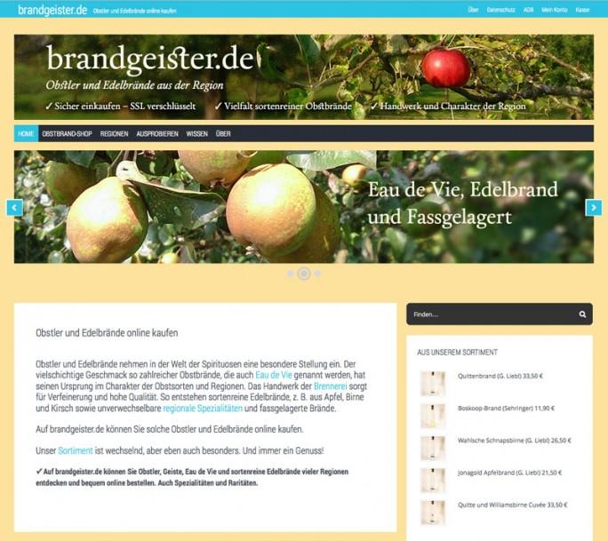 Obstbrand-Shop auf brandgeister.de